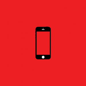 Red iphone Icon Origins Creatiive