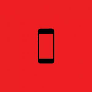 Red iphone Icon Origins Creatiive
