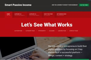 The Smart Passive Income Theme